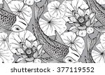 seamless vector pattern with... | Shutterstock .eps vector #377119552
