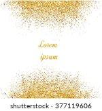 abstract gold glitter... | Shutterstock .eps vector #377119606