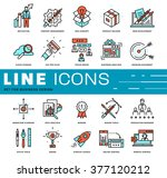 thin line icons set. business... | Shutterstock .eps vector #377120212