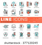 thin line icons set. business... | Shutterstock .eps vector #377120245