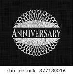 anniversary written on a...   Shutterstock .eps vector #377130016