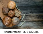 assortment of multi grain bread ... | Shutterstock . vector #377132086