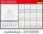 german calendar 2017. vector...   Shutterstock .eps vector #377134765
