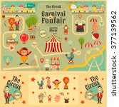 circus funfair and carnival... | Shutterstock .eps vector #377139562