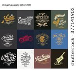 vintage typography collection | Shutterstock .eps vector #377141902