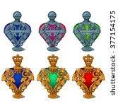 Set Of Vintage Perfume Bottles...