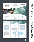 abstract three fold brochure... | Shutterstock .eps vector #377157946