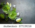 tradition summer drink mojito... | Shutterstock . vector #377159218