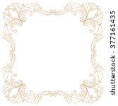 premium gold vintage baroque... | Shutterstock .eps vector #377161435