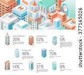 isometric city infographic.... | Shutterstock .eps vector #377165026