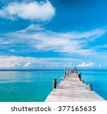 contemplating the sea calm... | Shutterstock . vector #377165635