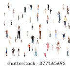 business picture standing... | Shutterstock . vector #377165692