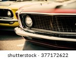 classic cars in a row   Shutterstock . vector #377172622