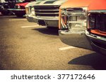 classic cars in a row | Shutterstock . vector #377172646