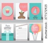 birthday  holiday  christmas... | Shutterstock .eps vector #377172925