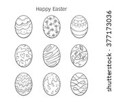 easter eggs decorating outline... | Shutterstock .eps vector #377173036