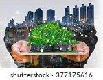 concept of smart phone or... | Shutterstock . vector #377175616