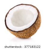 coconut isolated on the white... | Shutterstock . vector #377183122