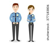 vector characters  two young... | Shutterstock .eps vector #377183806