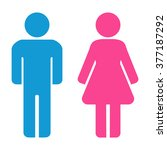 man and woman icons. restroom...   Shutterstock .eps vector #377187292