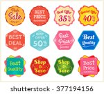 set of retro promotion discount ... | Shutterstock .eps vector #377194156