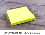 isolated block of yellow post... | Shutterstock . vector #377196112