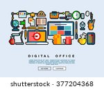 flat web design template with... | Shutterstock .eps vector #377204368