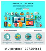 flat web design one page... | Shutterstock .eps vector #377204665
