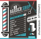 barber shop vector price list... | Shutterstock .eps vector #377204692
