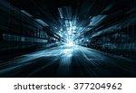 anstract tech futuristic room | Shutterstock . vector #377204962