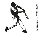 baseball player vector... | Shutterstock .eps vector #377212882