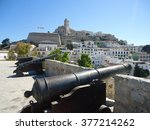 Ibiza Old Town With Canons In...