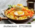 basmati rice slowly cooked with ... | Shutterstock . vector #377228038