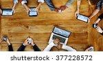 business team marketing global...   Shutterstock . vector #377228572