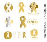 childhood cancer day symbol... | Shutterstock .eps vector #377238058