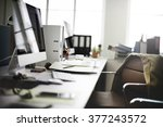 contemporary room workplace... | Shutterstock . vector #377243572
