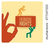 human rights design over yellow ... | Shutterstock .eps vector #377247202