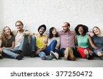 friends support team unity... | Shutterstock . vector #377250472