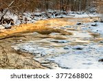 Icy Creek In Winter Glowing...