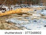 Icy Creek In Winter Glowing...