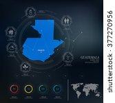 guatemala map infographic | Shutterstock .eps vector #377270956