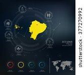 ecuador map infographic | Shutterstock .eps vector #377270992