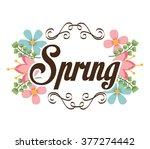 spring season design    Shutterstock .eps vector #377274442