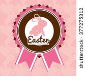 happy easter design  | Shutterstock .eps vector #377275312