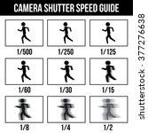camera shutter speed guide... | Shutterstock .eps vector #377276638