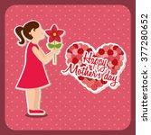 happy mothers day design  | Shutterstock .eps vector #377280652