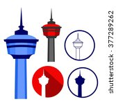 The Calgary Tower on Different Illustration Styles