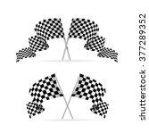 racing flag avto set. symbol of ... | Shutterstock .eps vector #377289352