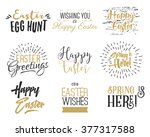 easter wishes overlays ... | Shutterstock .eps vector #377317588