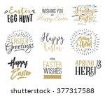 easter wishes overlays ... | Shutterstock .eps vector #377317588